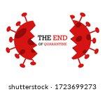 end of quarantine motivation... | Shutterstock .eps vector #1723699273