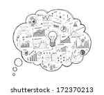 doodle speech bubble icon with... | Shutterstock .eps vector #172370213