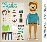 hipster character pack for geek ... | Shutterstock .eps vector #172370234
