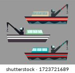 version of icons fishing ships... | Shutterstock . vector #1723721689