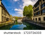 canal view in the medieval old...   Shutterstock . vector #1723726333