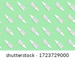 Seamless Green Pattern With...