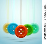 hanging sewing buttons. eps 10