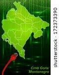 map of montenegro with borders... | Shutterstock . vector #172373390