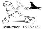 vector monochrome image of...   Shutterstock .eps vector #1723736473