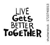 lettering outline text in...   Shutterstock .eps vector #1723740013