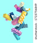 abstract colorful background... | Shutterstock .eps vector #1723756849