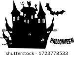 Halloween Bat Flying Castle In...