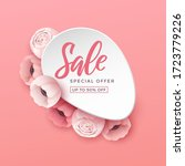 spring sale background with... | Shutterstock .eps vector #1723779226