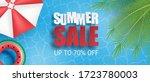 summer sale banner or poster.... | Shutterstock .eps vector #1723780003