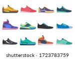 sneaker shoe. athletic sneakers ... | Shutterstock .eps vector #1723783759