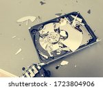 Broken Computer Hard Disk On A...