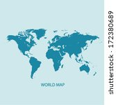 world map vector illustration | Shutterstock .eps vector #172380689
