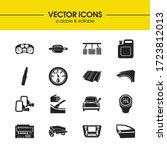 vehicle icons set with hoods ...