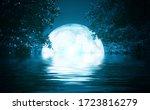Background Night Landscape. The ...