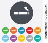 smoking sign icon. cigarette... | Shutterstock .eps vector #172382024