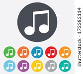 music note sign icon. musical... | Shutterstock .eps vector #172382114