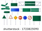 set of road signs isolated on... | Shutterstock .eps vector #1723825090