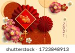 happy new year 2021   chinese... | Shutterstock .eps vector #1723848913