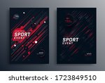 sports event poster layout... | Shutterstock .eps vector #1723849510