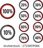 circle percentage diagrams 10 ...