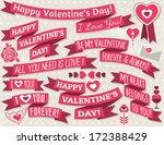 set of ribbon valentine's... | Shutterstock .eps vector #172388429