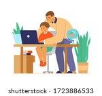 homeschool or online education. ...   Shutterstock .eps vector #1723886533