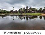 Cloudy Sunrise Over Angkor Wat  ...