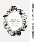 breakfast trendy design.... | Shutterstock .eps vector #1723890100