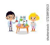 chemistry laboratory. little...   Shutterstock .eps vector #1723893013