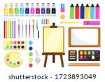 painting tools. creative... | Shutterstock .eps vector #1723893049