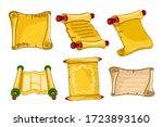 antique parchments. old paper...   Shutterstock .eps vector #1723893160