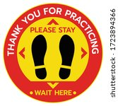 thanks for practicing social... | Shutterstock .eps vector #1723894366
