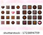 lots of chocolates for... | Shutterstock .eps vector #1723894759