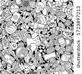 cartoon cute doodles hand drawn ... | Shutterstock .eps vector #1723897213