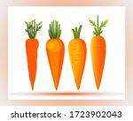 carrots illustration. carrot... | Shutterstock .eps vector #1723902043