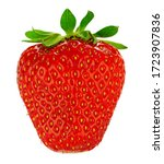 Strawberry Isolated On White...