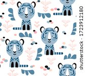 childish seamless pattern with... | Shutterstock .eps vector #1723912180