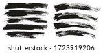 flat paint brush thin long  ... | Shutterstock .eps vector #1723919206