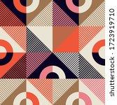 mid century geometric abstract... | Shutterstock .eps vector #1723919710
