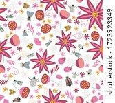 seamless natural pattern ... | Shutterstock .eps vector #1723923349