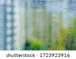 Rainy Droplets On A Wet Window...