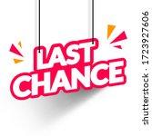 vector illustration last chance ... | Shutterstock .eps vector #1723927606