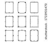 calligraphic ornamental frames... | Shutterstock .eps vector #1723931470
