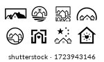 house vector icons isolated on... | Shutterstock .eps vector #1723943146