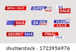 sale banners and promo stickers.... | Shutterstock .eps vector #1723956976