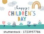 happy children's day  cute... | Shutterstock .eps vector #1723957786