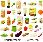 vector illustration set of... | Shutterstock .eps vector #172396298