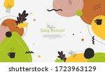 modern juicy abstract banner... | Shutterstock .eps vector #1723963129