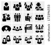 office people vector icons set... | Shutterstock .eps vector #172396553